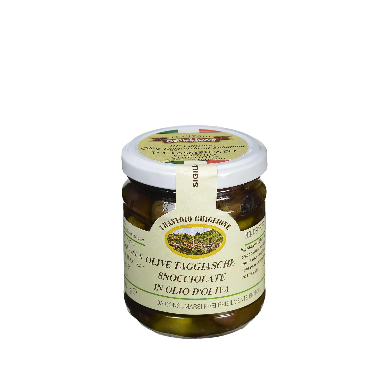 Die Oliven Taggiasche bei Olio Costa